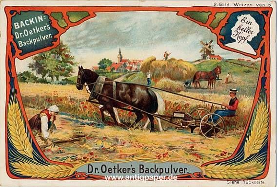 Oetker Bielefeld Victorian Chromolithic Trade Card Motiv